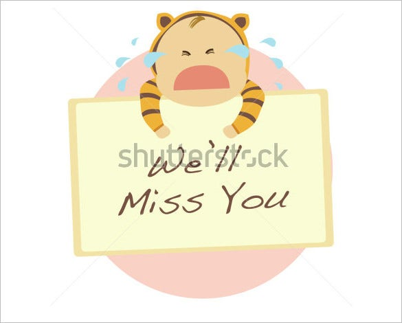 Farewell Card Template   Free Printable Sample Example Format