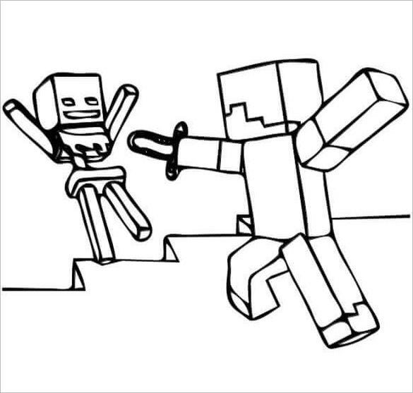 you can break the game addiction by introducing them to war minecraft coloring page