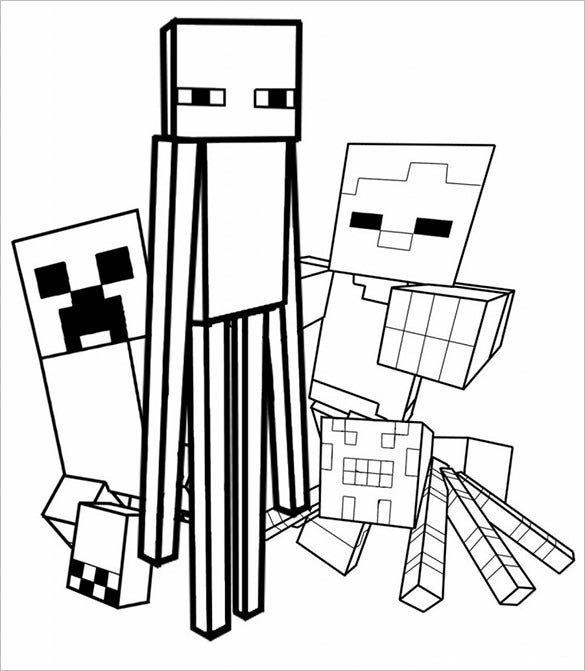 Minecraft Coloring Pages – 21+ Free Printable Word, PDF, PSD, PNG ...