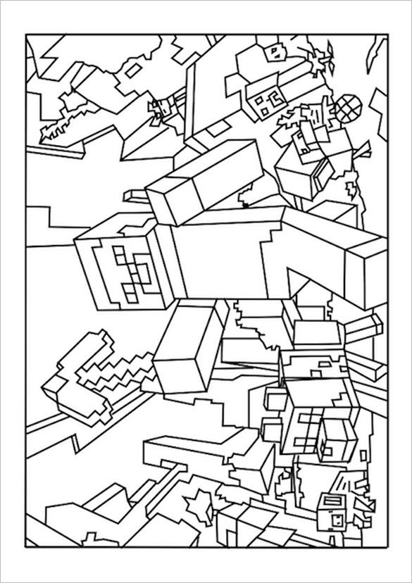 The Free Minecraft Coloring Template To Print Can Be Used For Different Reasons Parents Often Use This Control How Much Time Their Kids Spend On