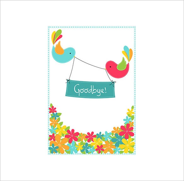 fantastic template for farewell card