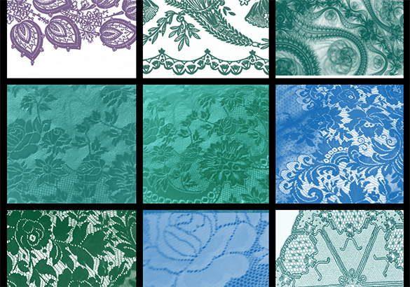9 lace photoshop brushes for free