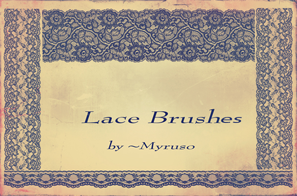 10 free lace photoshop brushes for you