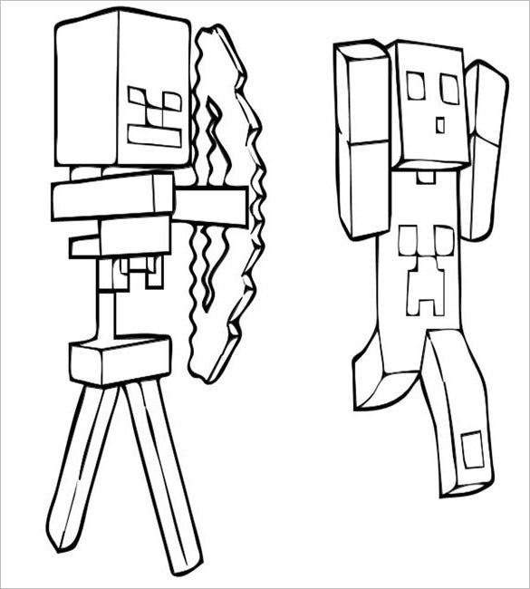 creeper minecraft coloring page download