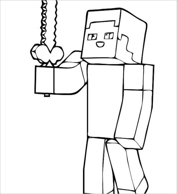 16 Minecraft Coloring Pages
