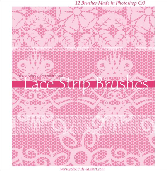 12 free fansy lace photoshop brushes