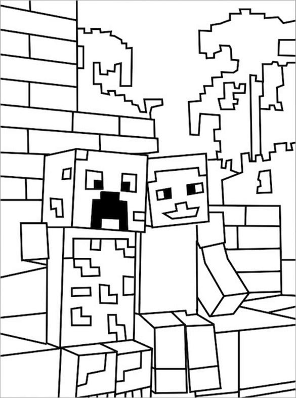 minecraft print out coloring pages - photo#42