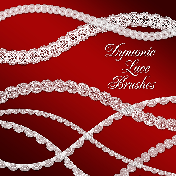 free dynamic lace photoshop brushes download