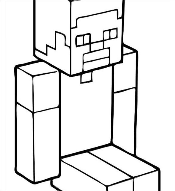 minecraft printable coloring page download edit