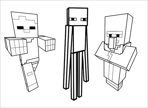 coloring minecraft free to download