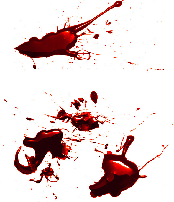 50 premium blood splatter photoshop brushes