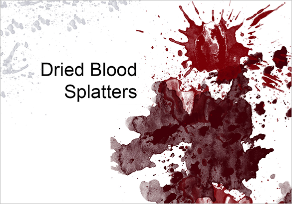 99 blood splatter photoshop brushes free download