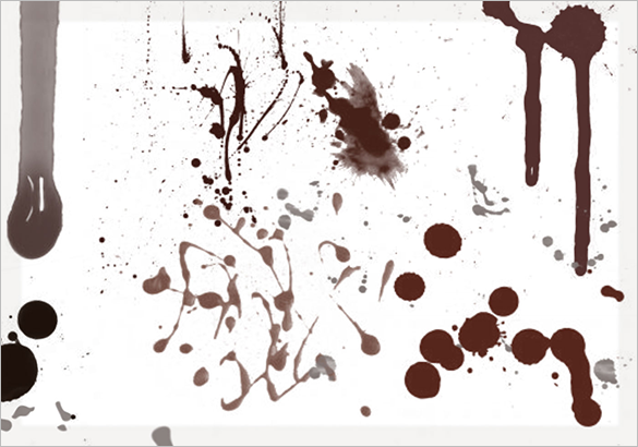 13 free blood splatter photoshop brushes for you
