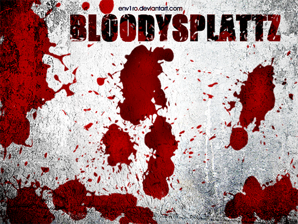 12 free blood splatter photoshop brushes
