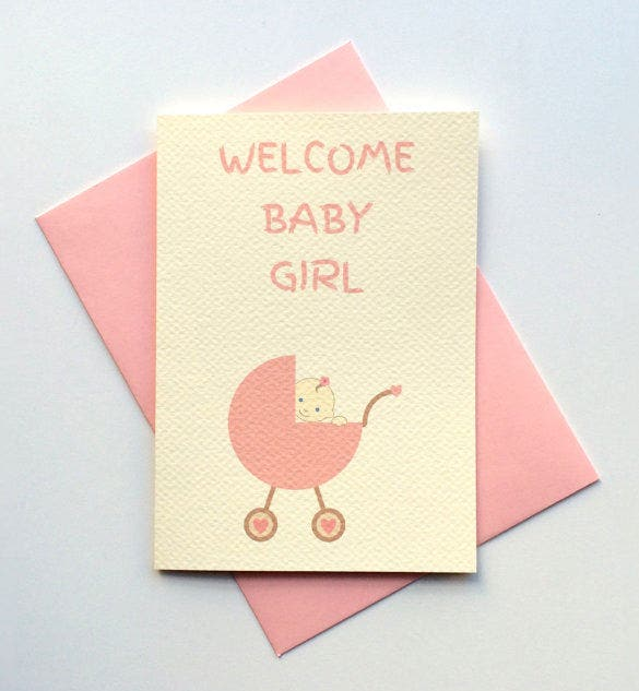 beautiful card template for baby shower