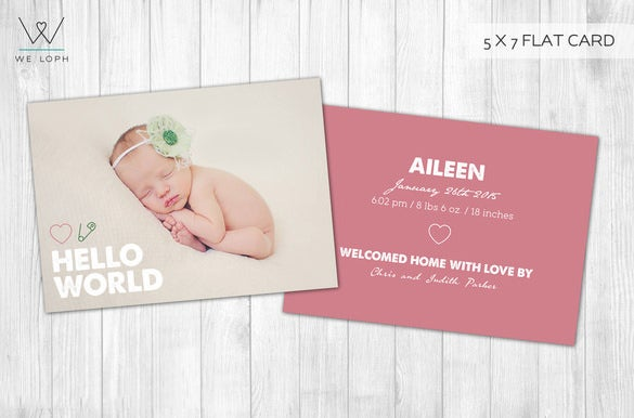 baby shower card psd template download