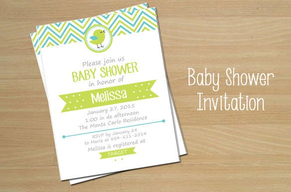 eps baby shower invitation card template