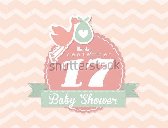 pink background baby shower card template
