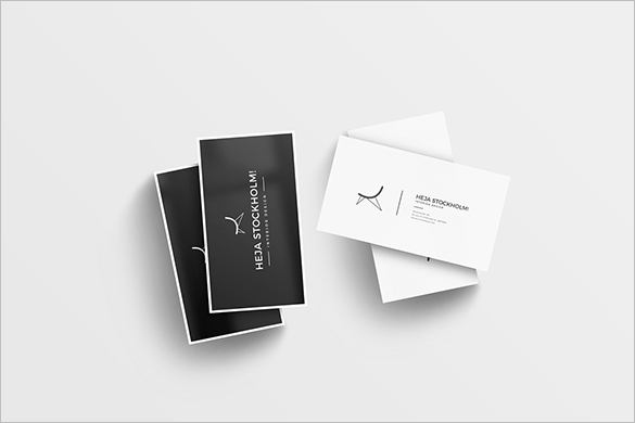 free psd staples clean business cards