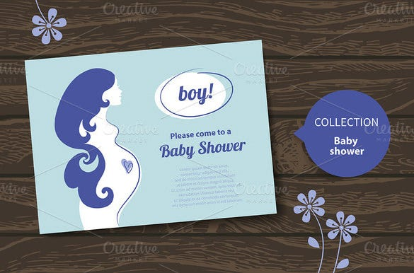 baby shower eps card template download