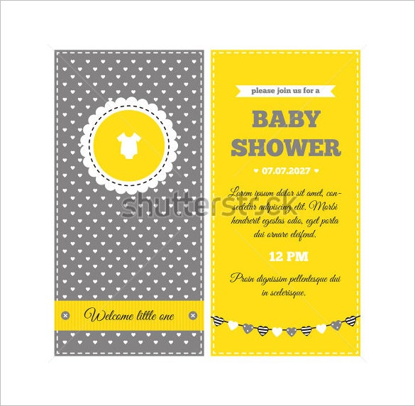Baby Shower Card Template   Free Printable Sample Example