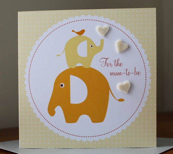 baby shower greeting card template