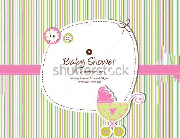 cute card template for baby shower
