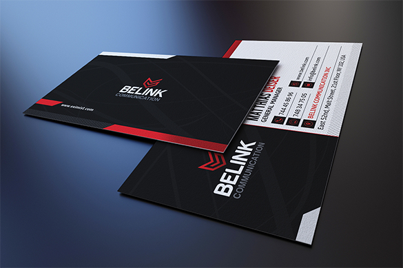 modern corporate staples business card