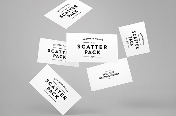 premium scatter staples business card