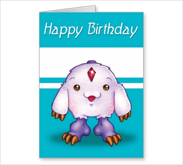 Birthday Greeting Pokemon Card Template