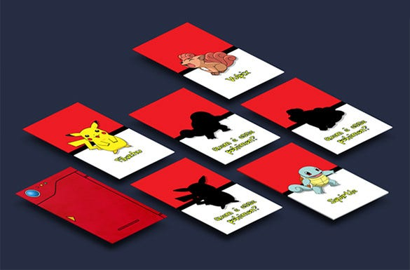 fantastic card template of pokemon
