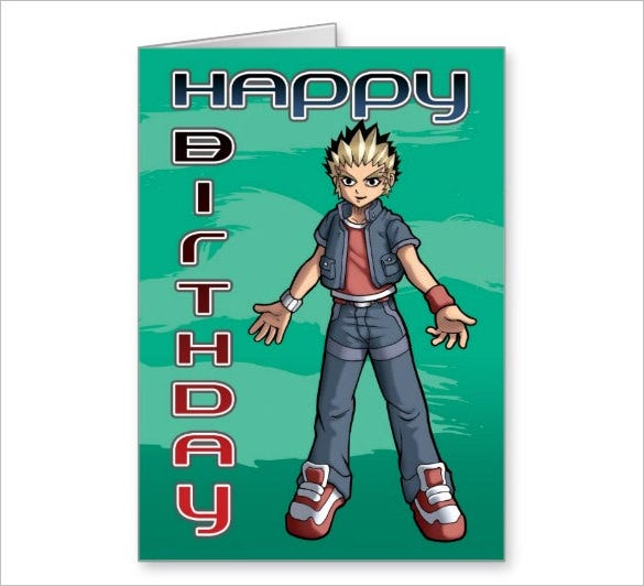 pokemon birthday greeting card template