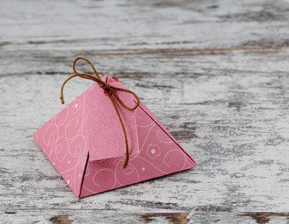 hand madepaper box template