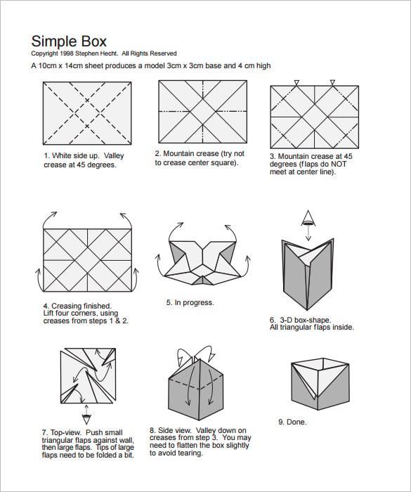paper gift box making