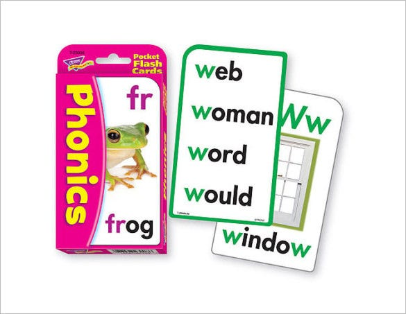 phonics flash card template downlaod