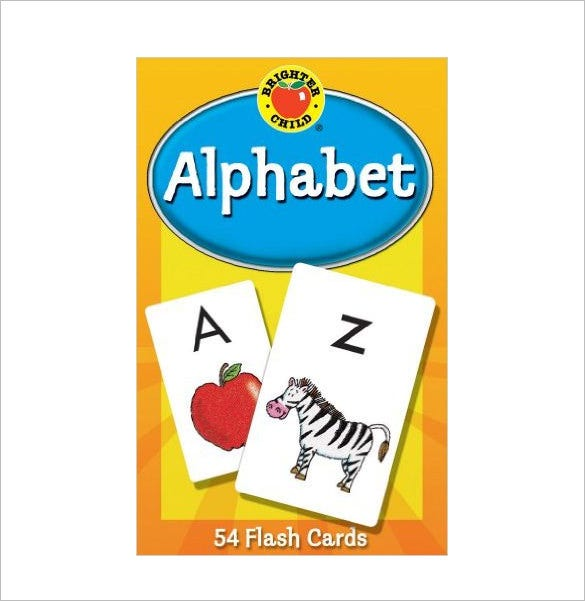 alphabet flash card template