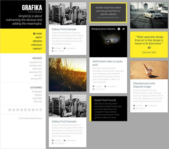 minimal retina ready photography blog html template