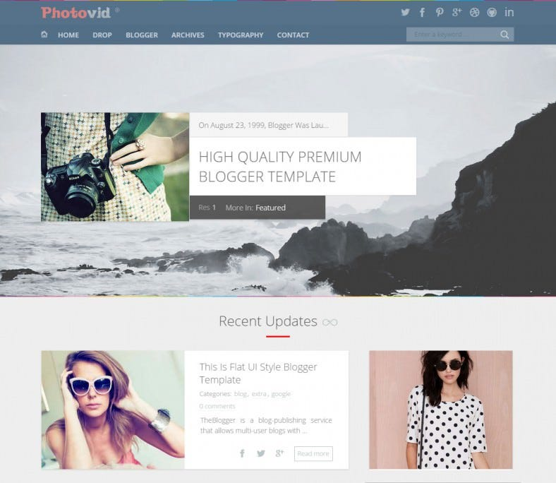 photovid video and photography blogger template 788x684