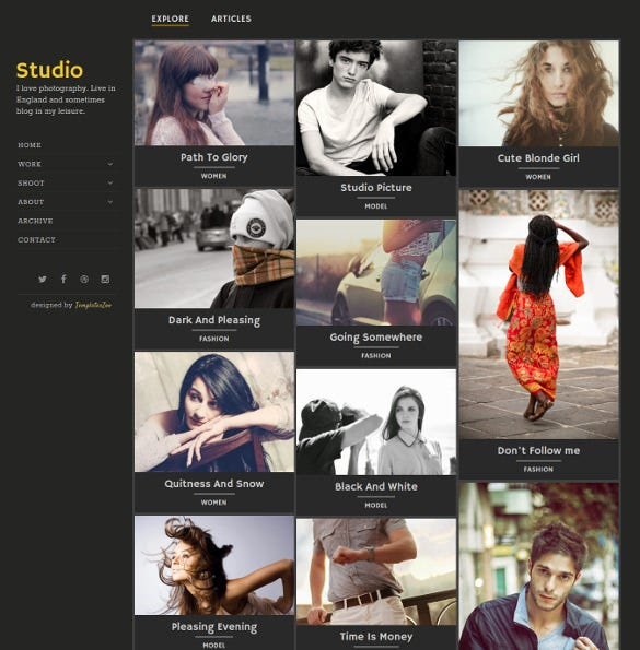 awesome fully responsive photography blog theme