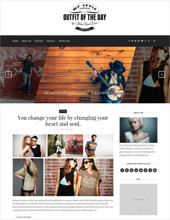 excellent photography blog template free download