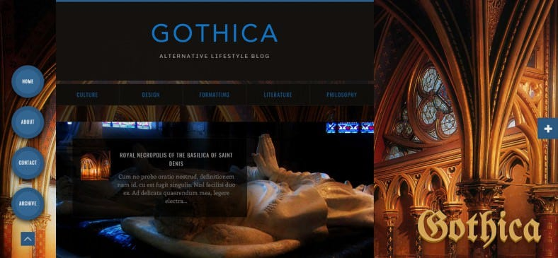gothica–dark animated blogger template 788x365