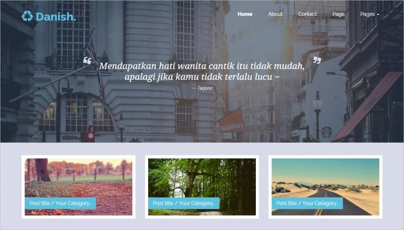 danish portfolio blog template 788x448