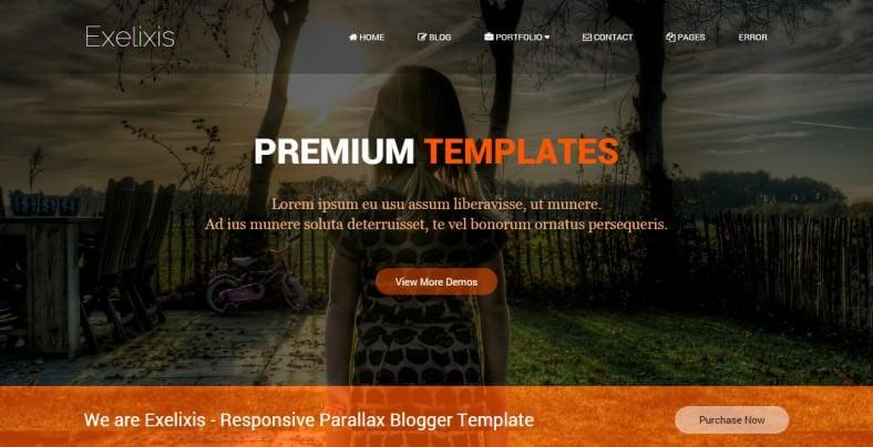 exelixis responsive blogger template 788x404