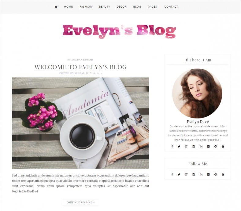 blogger template evelys blog 788x691