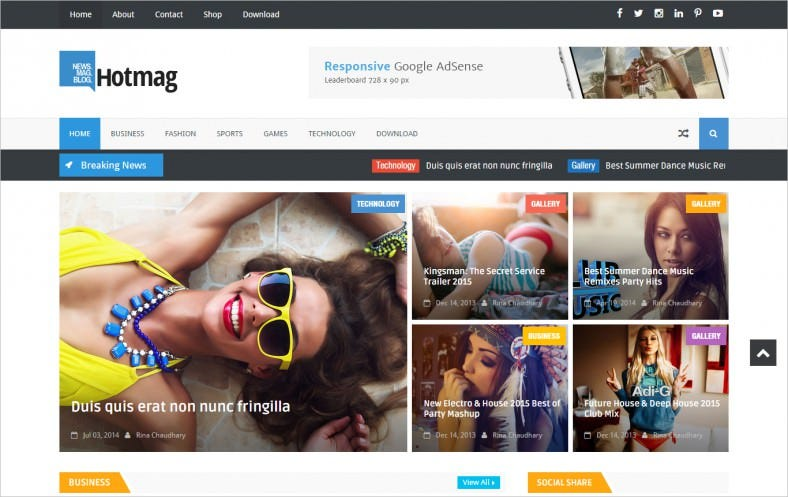 hotmag responsive blogger template 788x497