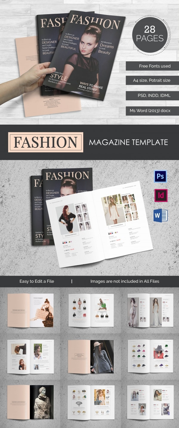 fashion brochure psd eps ai indesign format fashion magazine brochure in word format 28 pages fashion magazine template