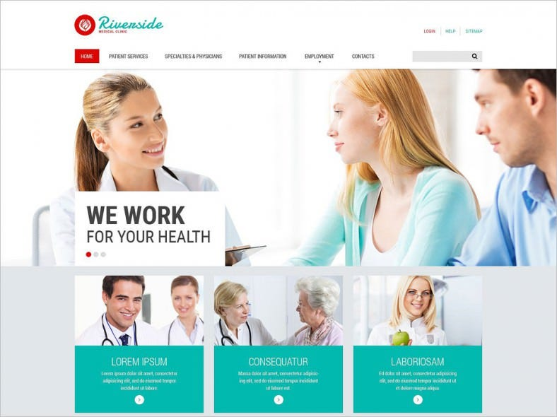 medical responsive website template 788x590