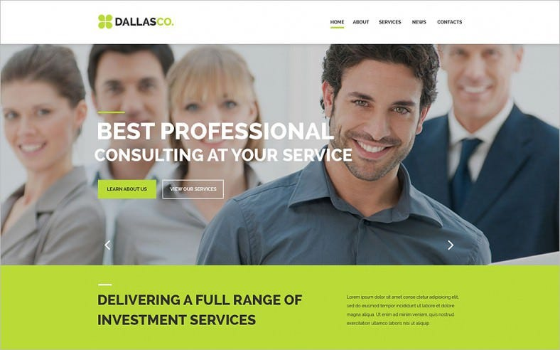 business responsive website template 788x492