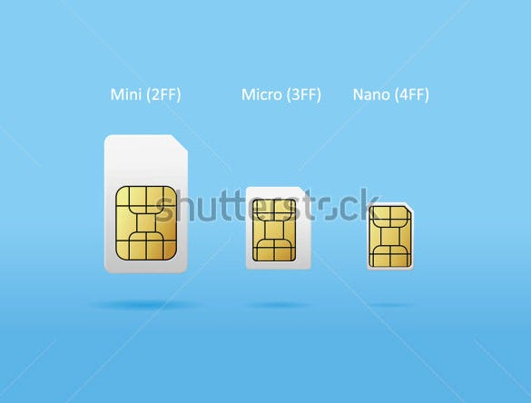 vector illustration micro sim card template