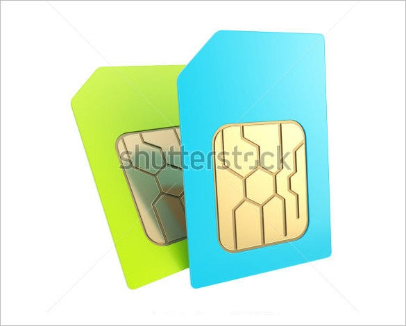 example of a micro sim card template